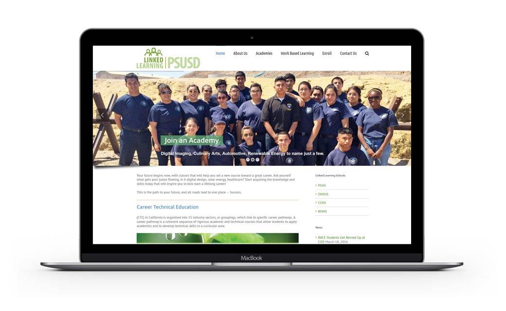 Website Design for Linked Learning PSUSD