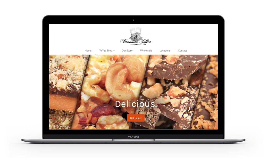 Website Design for Brandini Toffee