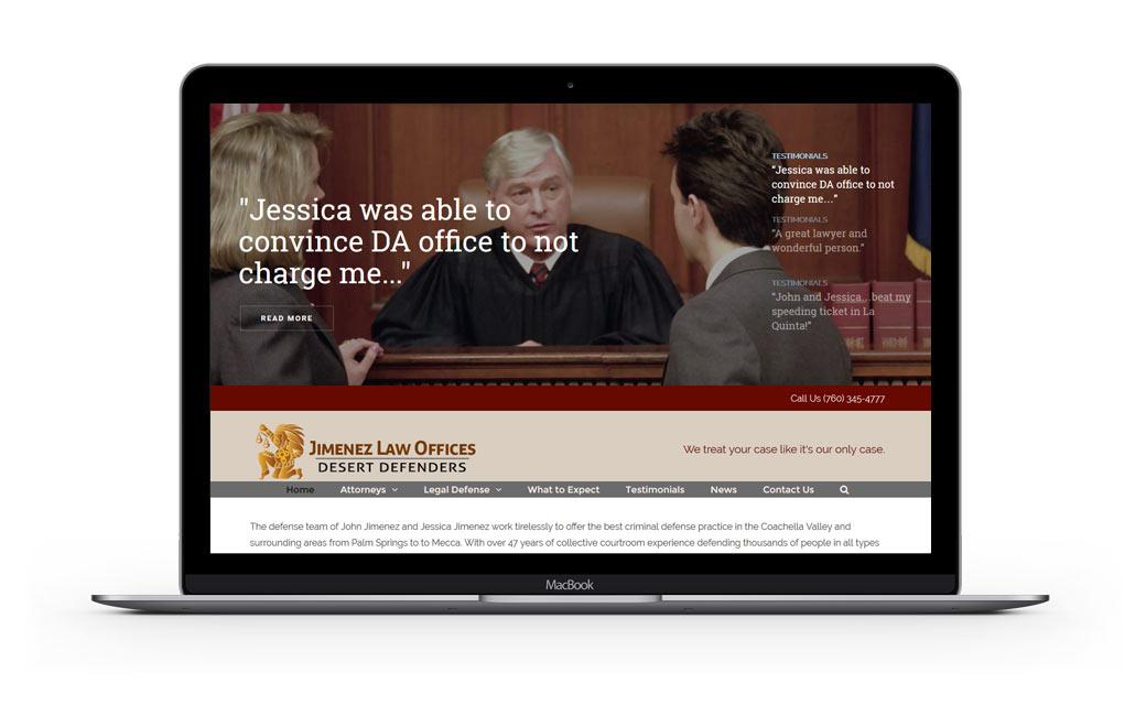 Website Design for Jimenez Law Offices
