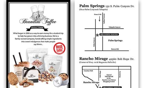 Rip Rack Card Design - Brandini Toffee